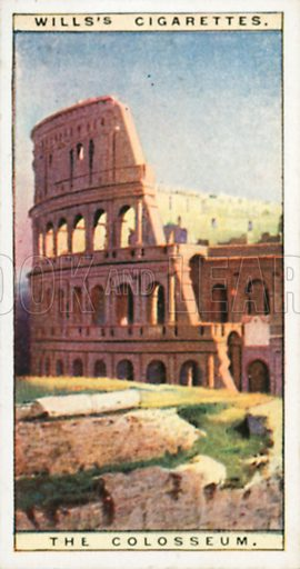 The Colosseum. Illustration for Wills's Wonders of the Past cigarette card series (early 20th century).