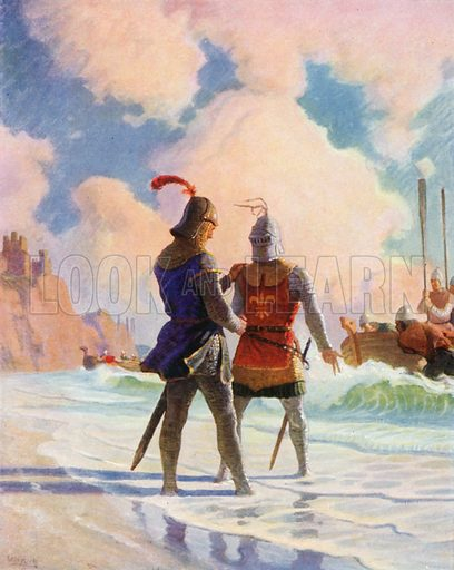 Bruce on the Beach. Illustration for The Scottish Chiefs by Jane Porter (Hodder and Stoughton, 1921).