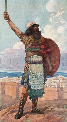 Othniel. Illustration for The Old Testament - Part II (Brunoff, 1904).