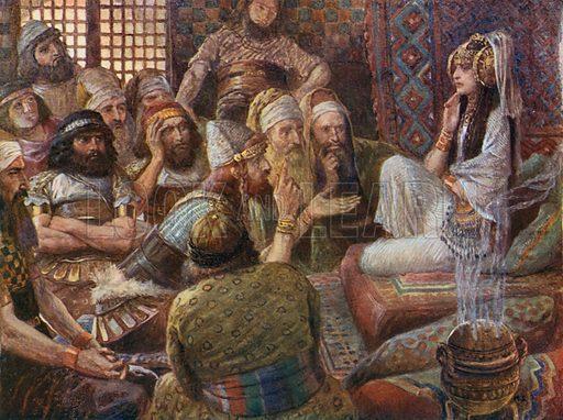 The Philistines Visit Delilah. Illustration for The Old Testament - Part II (Brunoff, 1904).