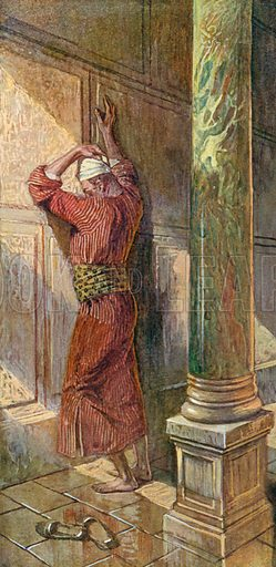 Praying in the Temple. Illustration for The Old Testament - Part II (Brunoff, 1904).