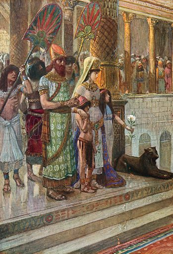 Solomon and the Queen of Sheba. Illustration for The Old Testament - Part II (Brunoff, 1904).
