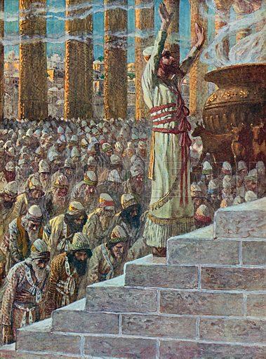 Solomon Dedicates the Temple at Jerusalem. Illustration for The Old Testament - Part II (Brunoff, 1904).