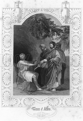 Timon of Athens.  Illustration for The Complete Works of Shakespeare (John G Murdoch, 1876).