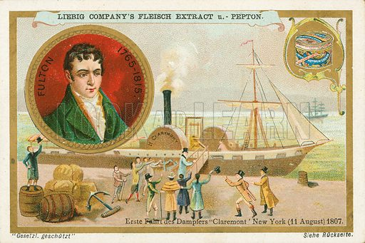 Robert Fulton. Illustration for Liebig card (early 20th century).
