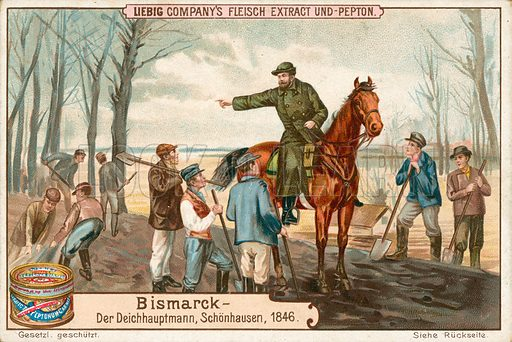 Bismarck. Illustration for Liebig card (early 20th century).