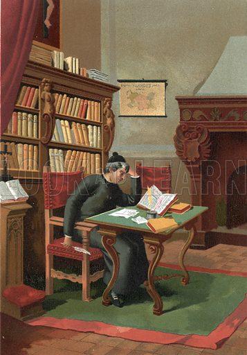 Benito Arias Montano.  Illustration for La Ciencia Y Sus Hombres by Luis Figuier (D Jaime Seix, 1876).  Large chromolithograph.