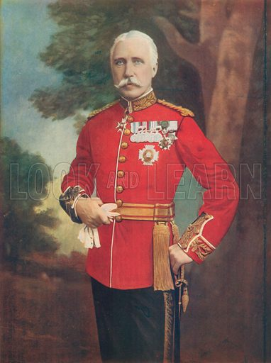 Major-General Sir Bindon Blood, Commanding Meerut District, Bengal. Illustration for Celebrities of the Army edited by Charles Robinson (George Newnes, 1900).