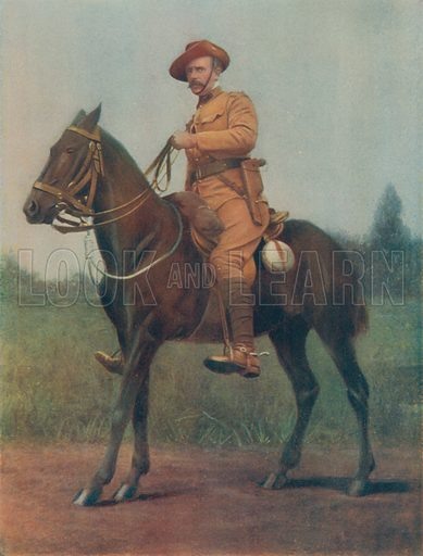 Lieutenant-Colonel EC Bethune. Commanding Bethune's Mounted Infantry. Illustration for Celebrities of the Army edited by Charles Robinson (George Newnes, 1900).
