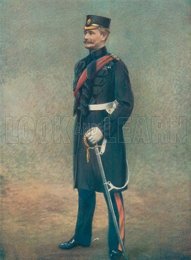 Lieutenant-General R Pole-Carew. Commanding Eleventh Division, South African Field Force. Illustration for Celebrities of the Army edited by Charles Robinson (George Newnes, 1900).