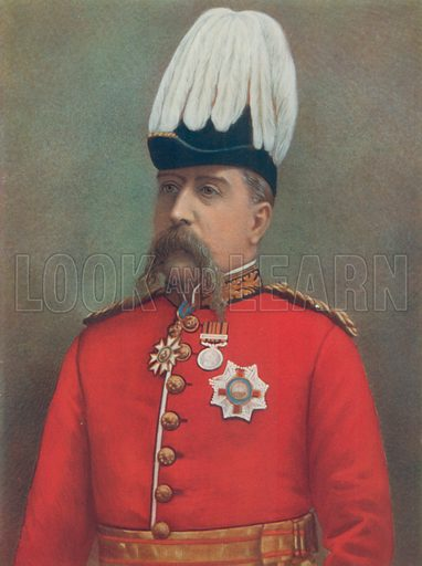 Lieutenant-General Sir F Carrington. On Special Service in South Africa. Illustration for Celebrities of the Army edited by Charles Robinson (George Newnes, 1900).