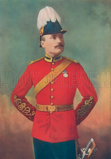 Lieutenant-Colonel FL Lessard. Canadian Mounted Infantry, South Africa. Illustration for Celebrities of the Army edited by Charles Robinson (George Newnes, 1900).