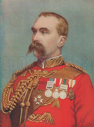 Lieutenant-General Sir Alfred Gaselee. Commanding the British Forces in China. Illustration for Celebrities of the Army edited by Charles Robinson (George Newnes, 1900).