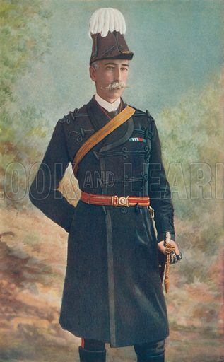 Major-General J Talbot Coke. Commanding Tenth Brigade, South African Field Force. Illustration for Celebrities of the Army edited by Charles Robinson (George Newnes, 1900).