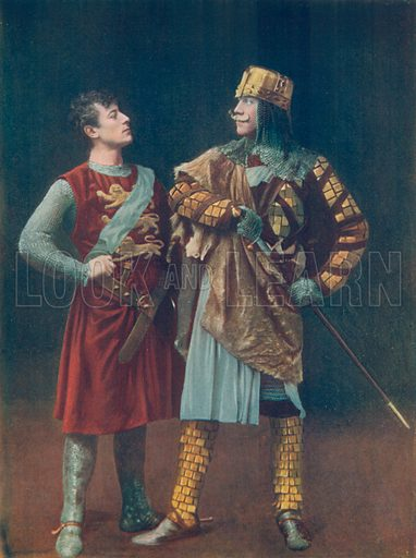 Mr Lewis Waller and Mr Mckinnel. Illustration for Celebrities of the Stage edited by Boyle Lawrence (Geroge Newnes, c 1910).