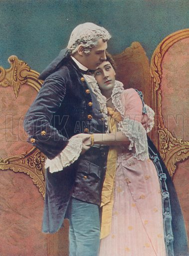 Mr Charles Wyndham and Miss Marry Moore. Illustration for Celebrities of the Stage edited by Boyle Lawrence (Geroge Newnes, c 1910).