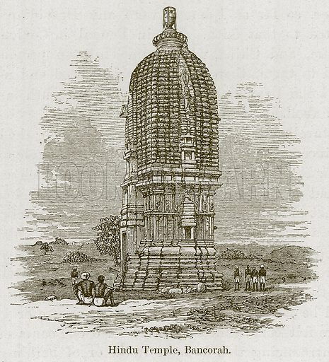 Hindu Temple, Bancorah. Illustration for History of Indian and Eastern Architecture by James Fergusson (John Murray, 1876).