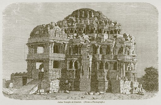 Jaina Temple at Gualior. Illustration for History of Indian and Eastern Architecture by James Fergusson (John Murray, 1876).