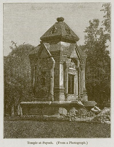 Temple at Payech. Illustration for History of Indian and Eastern Architecture by James Fergusson (John Murray, 1876).