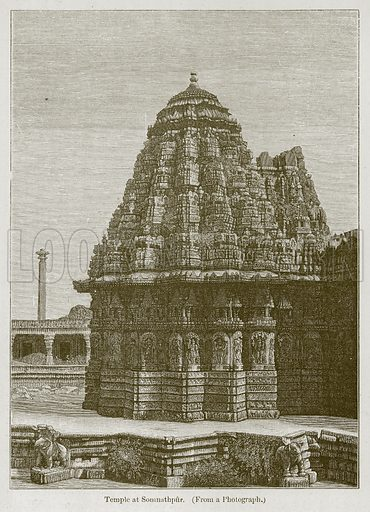 Temple at Somnathpur. Illustration for History of Indian and Eastern Architecture by James Fergusson (John Murray, 1876).