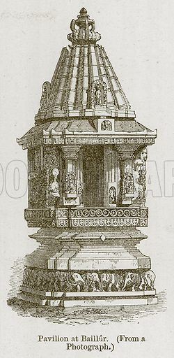 Pavilion at Baillur. Illustration for History of Indian and Eastern Architecture by James Fergusson (John Murray, 1876).