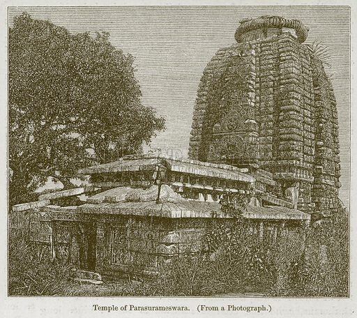 Temple of Parasurameswara. Illustration for History of Indian and Eastern Architecture by James Fergusson (John Murray, 1876).