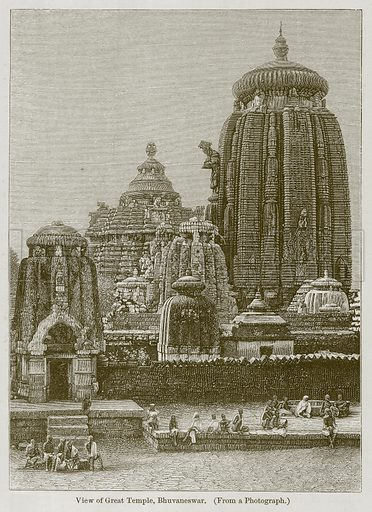 View of Great Temple, Bhuvaneswar. Illustration for History of Indian and Eastern Architecture by James Fergusson (John Murray, 1876).