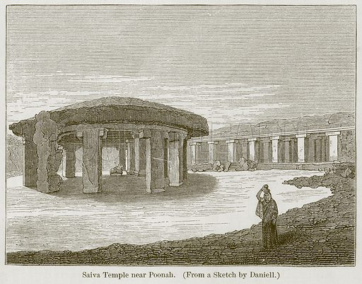 Saiva Temple near Poonah. Illustration for History of Indian and Eastern Architecture by James Fergusson (John Murray, 1876).