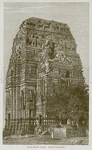 Teli ka Mandir, Gualior. Illustration for History of Indian and Eastern Architecture by James Fergusson (John Murray, 1876).
