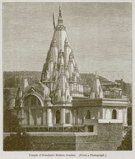 Temple of Scindiah's Mother, Gualior. Illustration for History of Indian and Eastern Architecture by James Fergusson (John Murray, 1876).