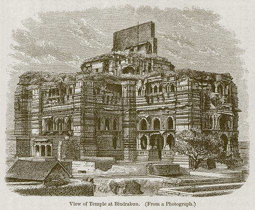 View of Temple at Bindrabun. Illustration for History of Indian and Eastern Architecture by James Fergusson (John Murray, 1876).