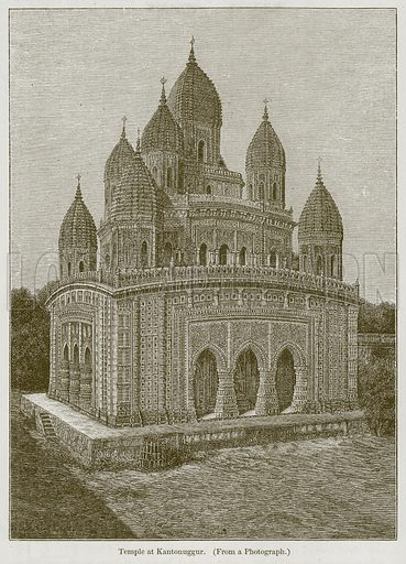 Temple at Kantonuggur. Illustration for History of Indian and Eastern Architecture by James Fergusson (John Murray, 1876).