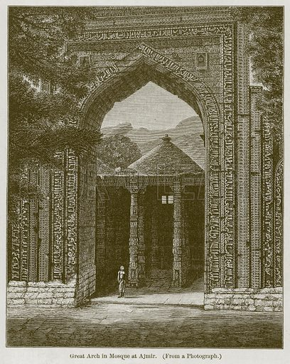 Great Arch in Mosque at Ajmir. Illustration for History of Indian and Eastern Architecture by James Fergusson (John Murray, 1876).