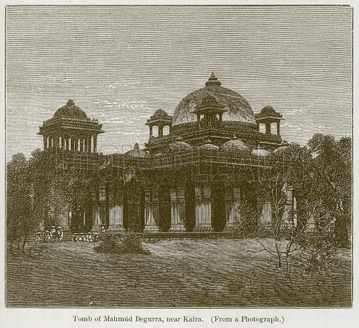 Tomb of Mahmud Begurra, near Kaira. Illustration for History of Indian and Eastern Architecture by James Fergusson (John Murray, 1876).