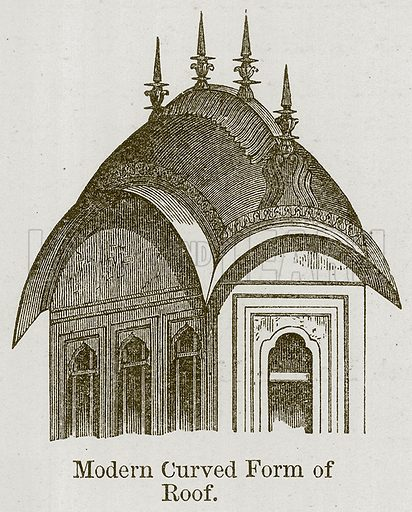Modern Curved Form of Roof. Illustration for History of Indian and Eastern Architecture by James Fergusson (John Murray, 1876).