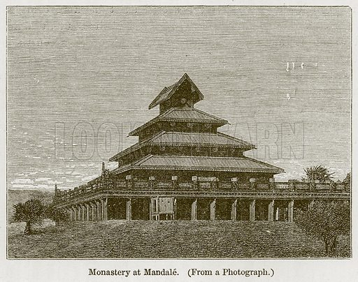 Monastery at Mandale. Illustration for History of Indian and Eastern Architecture by James Fergusson (John Murray, 1876).