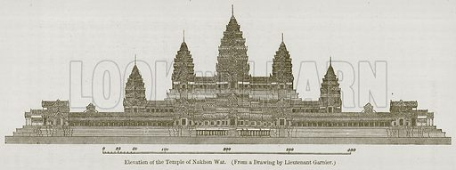 Elevation of the Temple of Nakhon Wat. Illustration for History of Indian and Eastern Architecture by James Fergusson (John Murray, 1876).