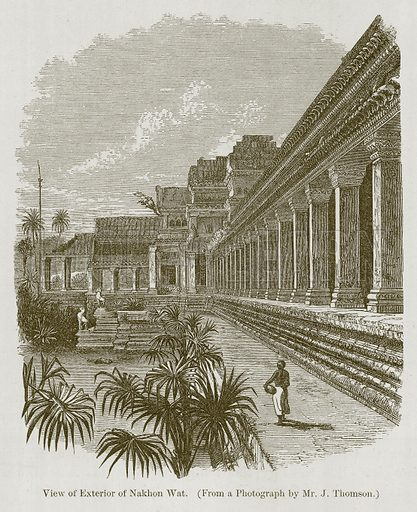 View of Exterior of Nakhon Wat. Illustration for History of Indian and Eastern Architecture by James Fergusson (John Murray, 1876).