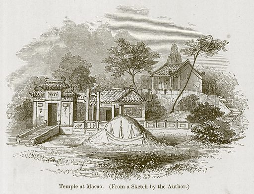 Temple at Macao. Illustration for History of Indian and Eastern Architecture by James Fergusson (John Murray, 1876).