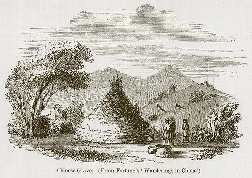 Chinese Grave. Illustration for History of Indian and Eastern Architecture by James Fergusson (John Murray, 1876).