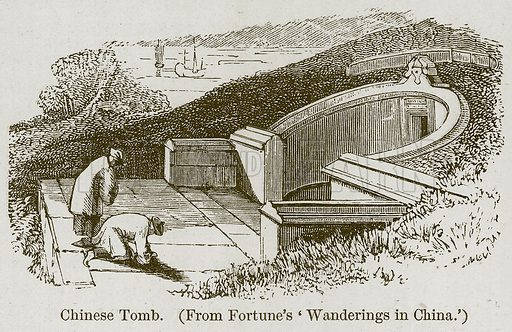 Chinese Tomb. Illustration for History of Indian and Eastern Architecture by James Fergusson (John Murray, 1876).
