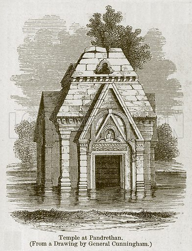 Temple at Pandrethan. Illustration for History of Indian and Eastern Architecture by James Fergusson (John Murray, 1876).