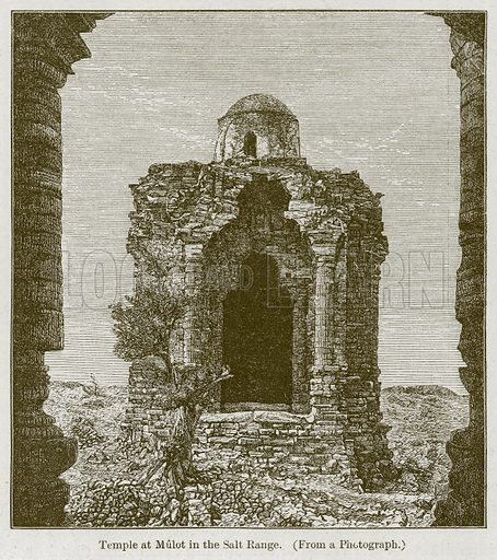 Temple at Mulot in the Salt Range. Illustration for History of Indian and Eastern Architecture by James Fergusson (John Murray, 1876).
