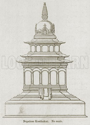 Nepalese Kosthakar. Illustration for History of Indian and Eastern Architecture by James Fergusson (John Murray, 1876).