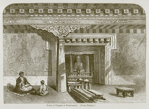 Porch of Temple at Pemiongchi. Illustration for History of Indian and Eastern Architecture by James Fergusson (John Murray, 1876).