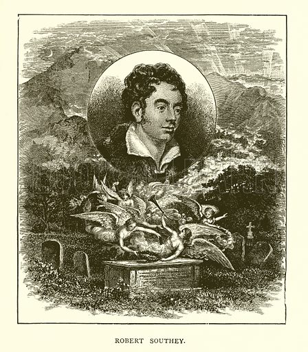 Robert Southey. Illustration for Our World's Greatest Benefactors by Samuel Adams Drake (H J Smith & Co, 1888).