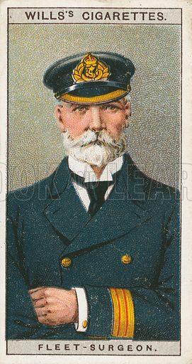 Fleet-Surgeon. Illustration for early 20th century cigarette card.