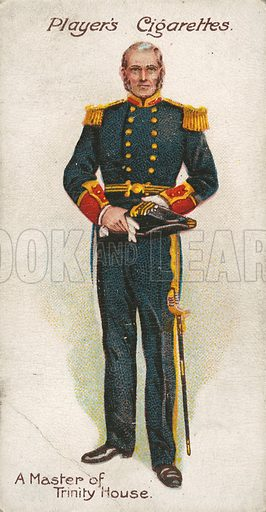 A Master of Trinity House. Illustration for early 20th century cigarette card.