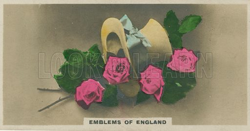 Emblems of England. Illustration for early 20th century cigarette card.