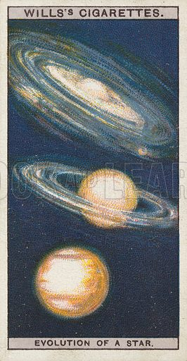 Evolution of a Star. Illustration for early 20th century cigarette card.